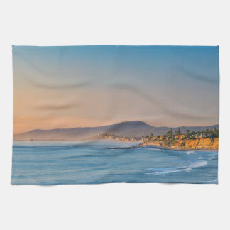 South Carlsbad beach Tea Towel