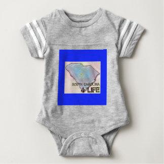 """South Carolina 4 Life"" State Map Pride Design Baby Bodysuit"