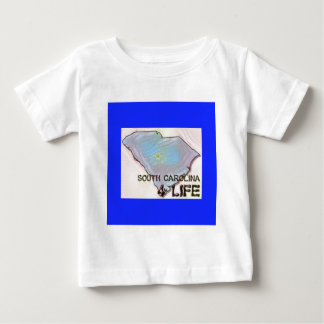 """South Carolina 4 Life"" State Map Pride Design Baby T-Shirt"