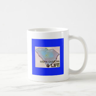 """South Carolina 4 Life"" State Map Pride Design Coffee Mug"