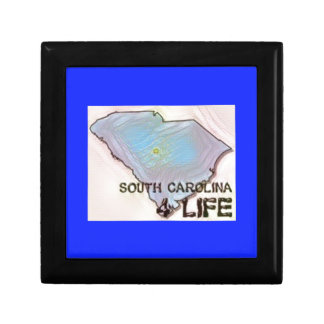 """South Carolina 4 Life"" State Map Pride Design Gift Box"