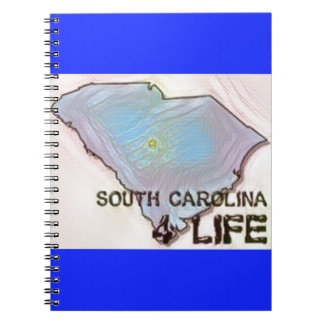 """South Carolina 4 Life"" State Map Pride Design Notebooks"