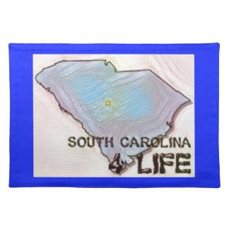 """South Carolina 4 Life"" State Map Pride Design Placemat"