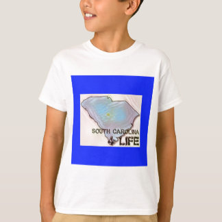"""South Carolina 4 Life"" State Map Pride Design T-Shirt"