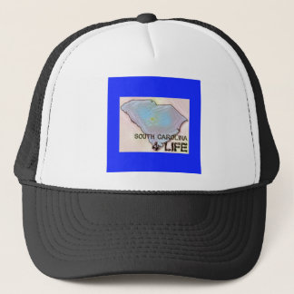 """South Carolina 4 Life"" State Map Pride Design Trucker Hat"