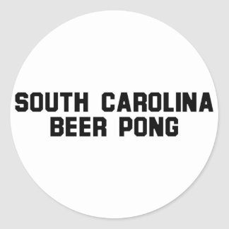 South Carolina Beer Pong Round Sticker