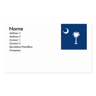 SOUTH CAROLINA BUSINESS CARD TEMPLATE