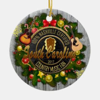 South Carolina Country Music Fan Ornament