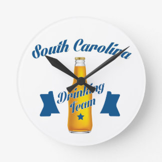 South Carolina Drinking team Round Clock