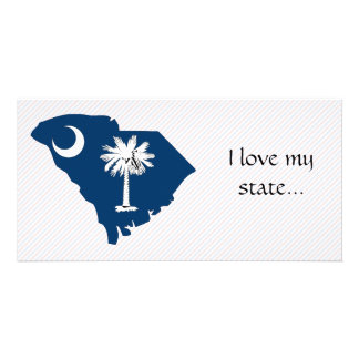 South Carolina Flag Map Picture Card