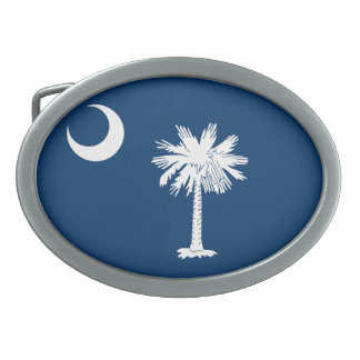 South Carolina Flag Oval Belt Buckle