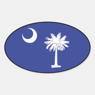 South Carolina Flag Oval Sticker