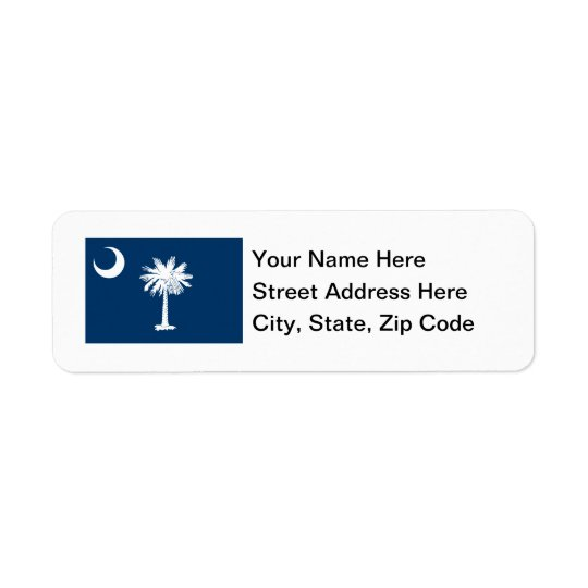 South Carolina Flag Return Address Label