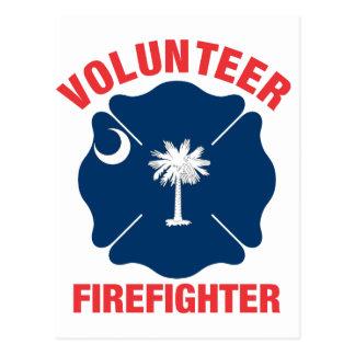 South Carolina Flag Volunteer Firefighter Cross Postcards