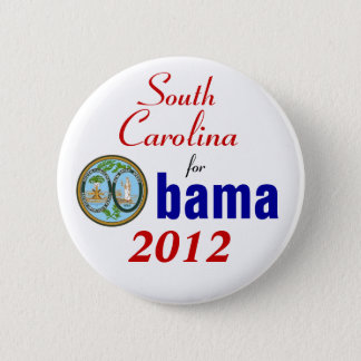 South Carolina for Obama 2012 6 Cm Round Badge