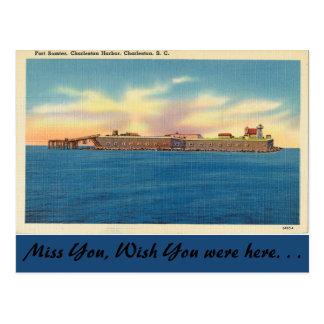 South Carolina, Fort Sumter, Charleston Postcard
