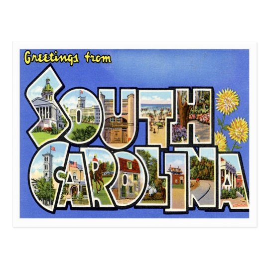 South Carolina Greetings From US States Postcard
