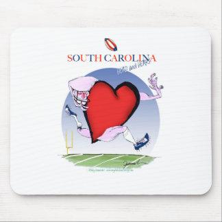 south carolina head heart, tony fernandes mouse pad
