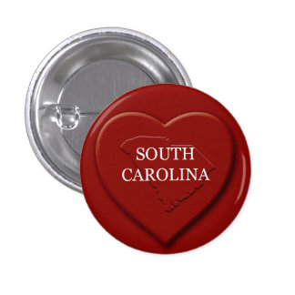 South Carolina Heart Map Design Button