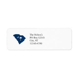 South Carolina in Blue and White Return Address Label