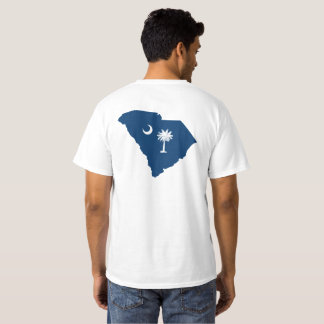 South Carolina in Blue and White T-Shirt