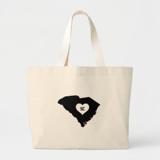 South Carolina Love Large Tote Bag