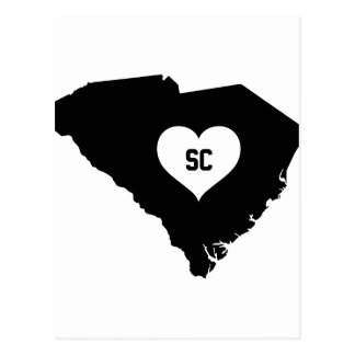 South Carolina Love Postcard