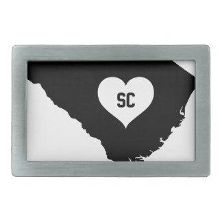 South Carolina Love Rectangular Belt Buckle