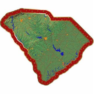 South Carolina Map Christmas Ornament Cut Out