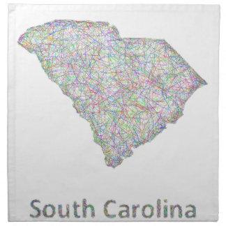 South Carolina map Napkin
