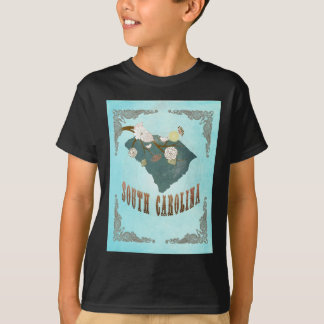 South Carolina Map With Lovely Birds T Shirt