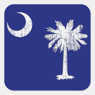 South Carolina Palmetto Flag Square Sticker