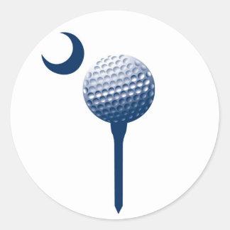 South Carolina Palmetto Golf Ball Classic Round Sticker