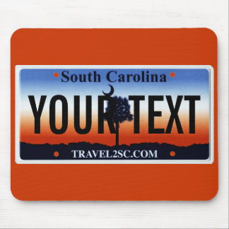 South Carolina palmetto license plate mouse pad