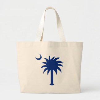 South Carolina Palmetto Tree Large Tote Bag