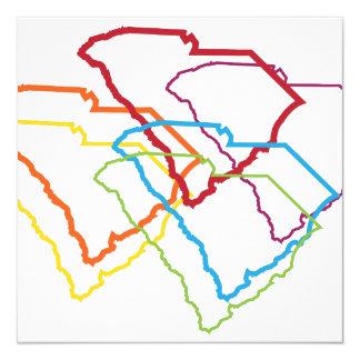 south carolina pride blur 13 cm x 13 cm square invitation card