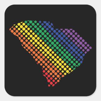 South Carolina Rainbow State Square Sticker