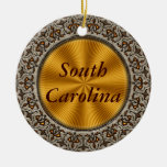 South Carolina Round Ceramic Decoration