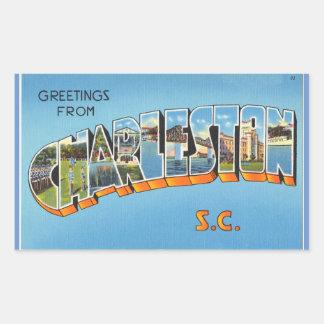 South Carolina, Sheet of 4 Charleston stickers