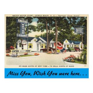 South Carolina, Smith's Motor Court, Myrtle Beach Postcard