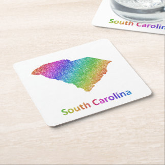 South Carolina Square Paper Coaster