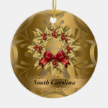 South Carolina State Christmas Ornament