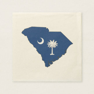 South Carolina State Flag and Map Disposable Serviettes