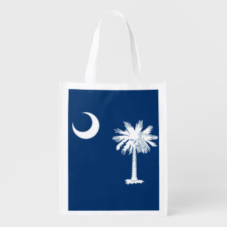 South Carolina State Flag Design Decor Reusable Grocery Bag