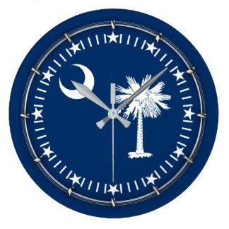 South Carolina State Flag on a Wall Clocks