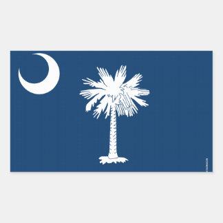 South Carolina State Flag Rectangular Sticker