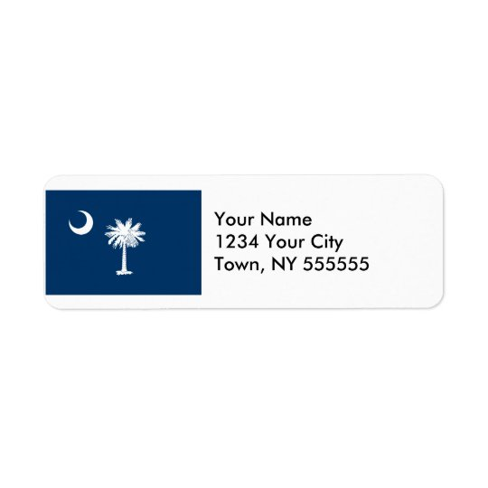 South Carolina State Flag Return Address Label