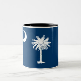 South Carolina State Flag Two-Tone Coffee Mug