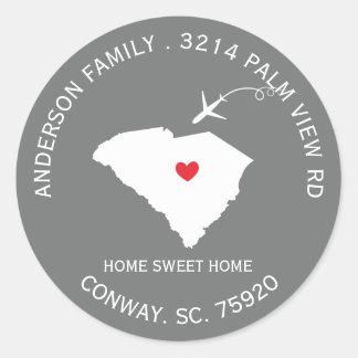 SOUTH CAROLINA State |  New Address Label Sticker
