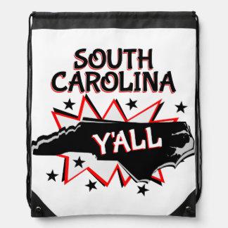 South Carolina State Pride Y'all Drawstring Bag
